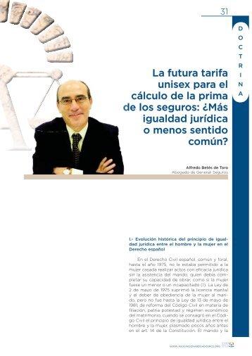 La futura tarifa unisex para el cálculo de la prima de los seguros ...
