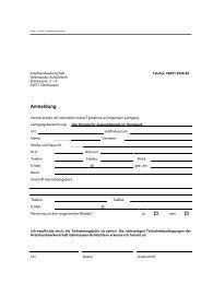 Anschreiben und Anmeldung - Kreishandwerkerschaft Gelnhausen