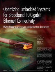 Optimizing Embedded Systems for Broadband 10 ... - AdvancedIO