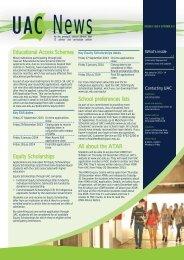UAC News Volume 19, Issue 4 – September 2013 - Universities ...