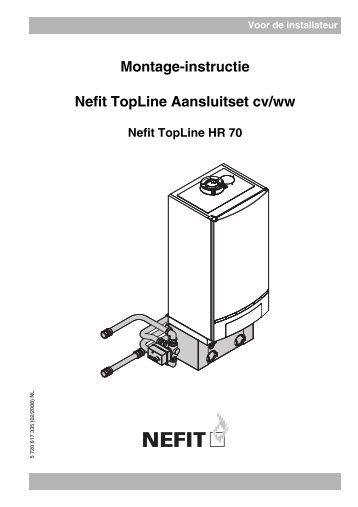 Voor de installateur Montage-instructie Nefit TopLine Aansluitset cv ...
