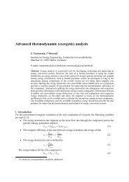 Advanced thermodynamic (exergetic) analysis