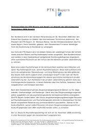 Stellungnahme der PTK Bayern zum BKA-Gesetz