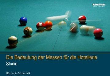 Die Bedeutung der Messen für die Hotellerie - Roland Berger