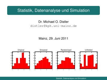 Statistik, Datenanalyse und Simulation