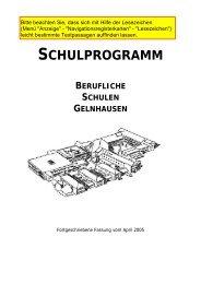 SCHULPROGRAMM - Berufliche Schulen Gelnhausen