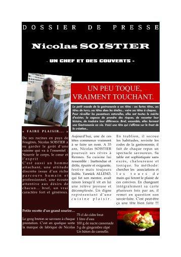 Nicolas SOISTIER UN PEU TOQUE, VRAIMENT ... - CCI Rennes