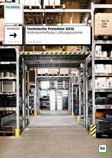 02 Technische Preisliste 2012 - Felderer
