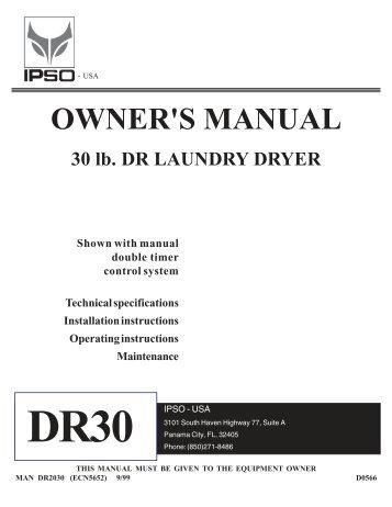 Tumbler Parts Manual - PartsKing.com