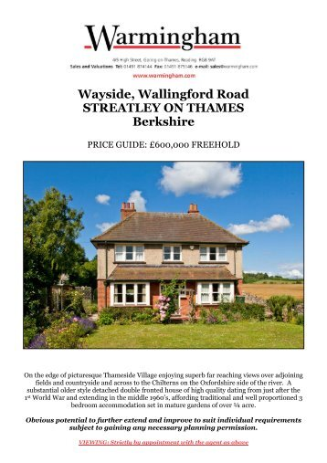Wayside, Wallingford Road STREATLEY ON ... - Warmingham