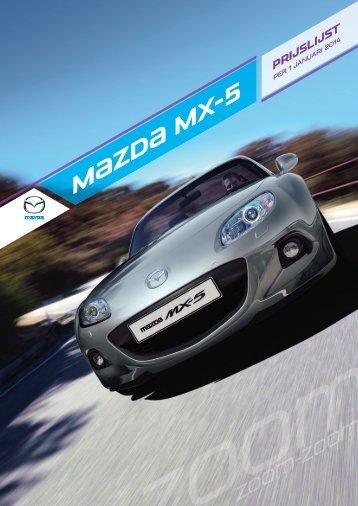 MX-5 Prijslijst - Mazda
