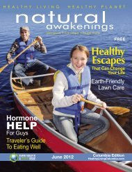 June 2012: Healthy Escapes - Columbia Natural Awakenings–Home