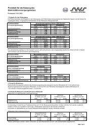 Preisblatt für die Nutzung des Elektrizitätsnetzes, gültig ab 01.01.2010