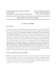 Brefs rappels sur la Courbe de Phillips La relation de ... - EconomiX