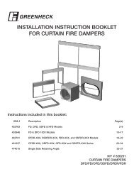 installation instruction booklet for curtain fire dampers - Greenheck