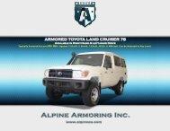 ARMORED TOYOTA LAND CRUISER 78 - Alpine Armoring Inc.