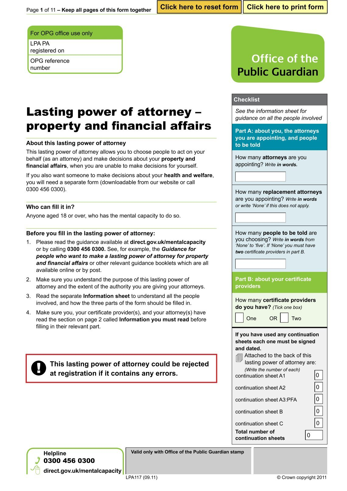 Power of attorney uk form sales plan outline 10 free magazines from daviessolicitorscouk lasting power of attorney form for property and financial affairs daviessolicitorscouk power of attorney uk form yelopaper Choice Image
