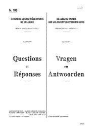 Questions Réponses Vragen Antwoorden - de Kamer