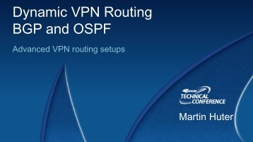 Dynamic VPN Routing BGP and OSPF - Barracuda UK Partner ...