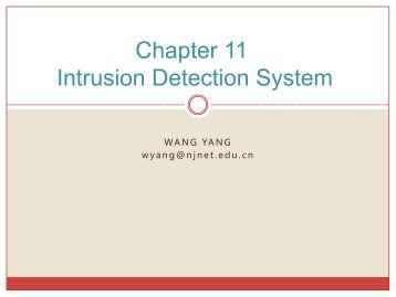 Chapter 11 Intrusion Detection System
