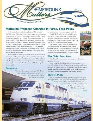 April - Metrolink