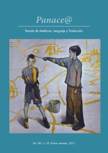 Panace@ - Revista de Medicina, Lenguaje y Traducción - Tremédica