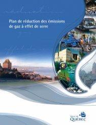 Plan de réduction des émissions de gaz à effet de ... - Ville de Québec