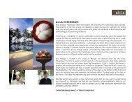 ALILA EXPERIENCE - Alila Hotels and Resorts