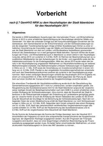 Vorbericht - Stadt Ibbenbüren