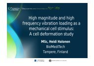 A cell deformation study - The Baltic Institute of Finland