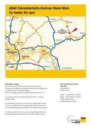 ADAC Fahrsicherheits-Zentrum Rhein-Main So ... - FSZ Rhein-Main