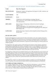 CURRICULUM VITAE - hANS PETER DEJGAARD - Inka Consult
