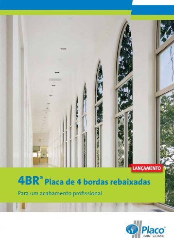4BR® Placa de 4 bordas rebaixadas - Placo