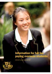 Information for full fee paying overseas students - Abbotsleigh
