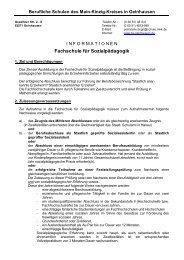 Fachschule für Sozialpädagogik - Berufliche Schulen Gelnhausen