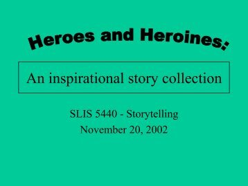 An inspirational story collection - UNT