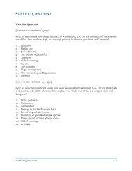 Yale/Mason Six Americas 2009 Questionnaire - Center for Climate ...