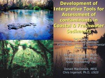 Development of Interpretive Tools for Assessment of Contaminants ...