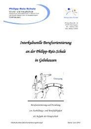 Interkulturelle Berufsorientierung an der Philipp-Reis-Schule in ...