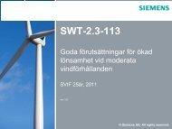 Siemens SWT-2.3-113 - CMS Office