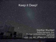 Keep it Deep! - Verein Kuffner-Sternwarte