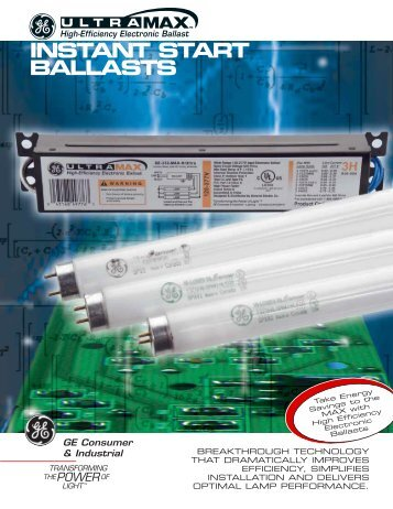 ULTRAMAX INSTANT START BALLASTS - EZmetro.com