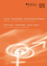 Umwelt – Nachhaltigkeit – Geschlechtergerechtigkeit / Environment ...