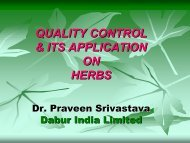 OVER VIEW QUALITY CONTROL OF HERBS - amam-ayurveda.org