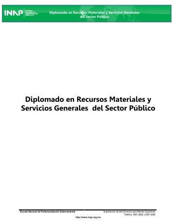 Diplomado en Recursos Materiales y Servicios Generales del ... - Inap
