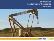 TD Bank Unconventional Oil and Gas Conference ... - Enerplus
