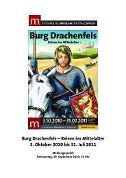 Burg Drachenfels – Reisen ins Mittelalter 3. Oktober 2010 bis 31 ...