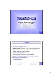 Wegzugsbesteuerung - P+P Pöllath + Partners