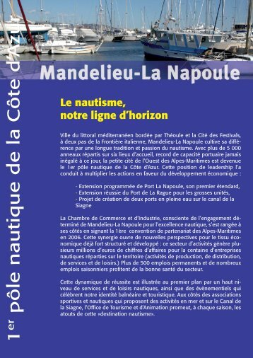 Destination Nautisme (Pdf 350 Ko) - Mandelieu La Napoule