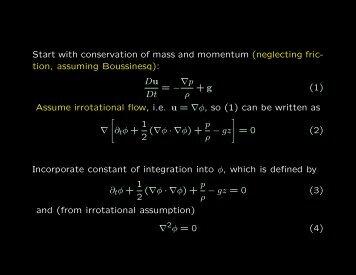 Deriving the KdV Equation